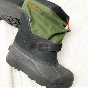 Columbia Children's Snow Boots With Lining Green